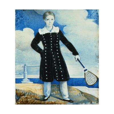 Boy with Badminton Racket--Giclee Print