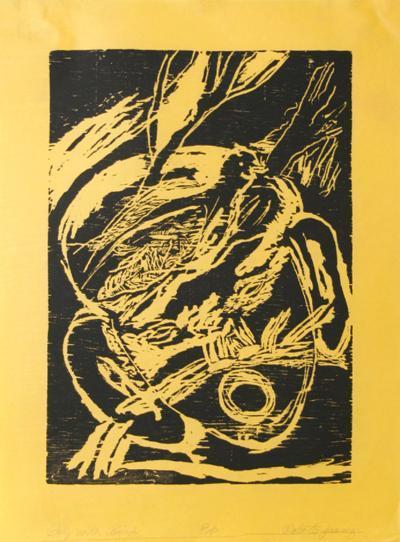 Boy with Bird (black)-Roberto Juarez-Limited Edition