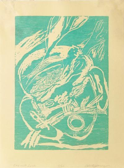 Boy with Bird (turquoise)-Roberto Juarez-Limited Edition