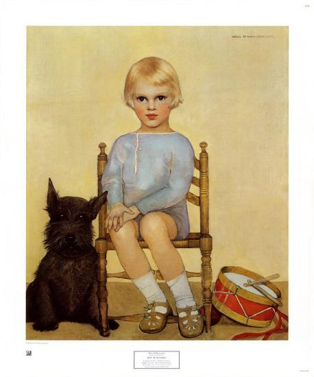 Boy with Dog, 1933-Maria Dekammerer-Art Print