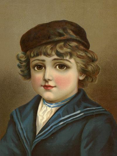 Boy, with Large Brown Eyes, in Sailor Suit--Giclee Print