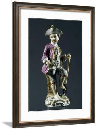 Boy with Shovel, Meissen Manufacture, Saxony, Germany--Framed Giclee Print