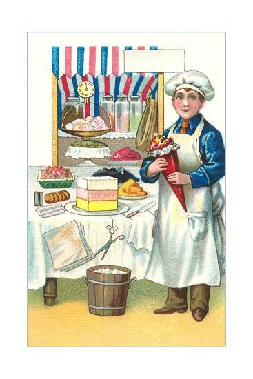 Boy with Various Desserts-Found Image Press-Giclee Print