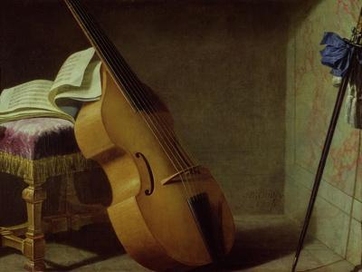 Bass Viol, Score Sheet and a Sword, 1693