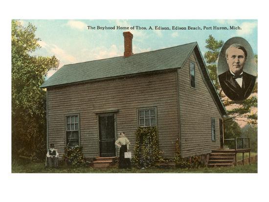 Boyhood Home of Edison, Port Huron, Michigan--Art Print