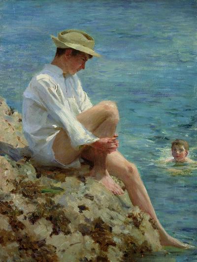 Boys Bathing, 1908-Henry Scott Tuke-Giclee Print