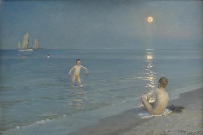 Boys Bathing at Skagen. Summer Evening, 1899-Peder Severin Kroyer-Giclee Print