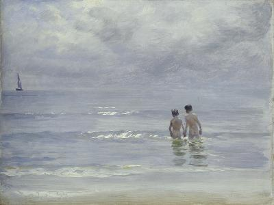 Boys Bathing on the Beach at Skagen, 1899-Peder Severin Kr?yer-Giclee Print