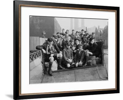 Boys Club Members in Transportation, Circa 1930--Framed Photographic Print