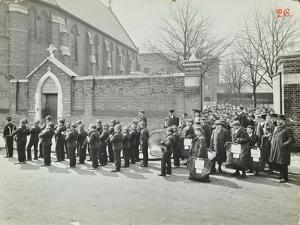 Boys Emigrating to Canada Setting Off from Saint Nicholas Industrial School, Essex, 1908