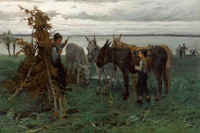 Boys Herding Donkeys, 1865-Willem Maris-Giclee Print