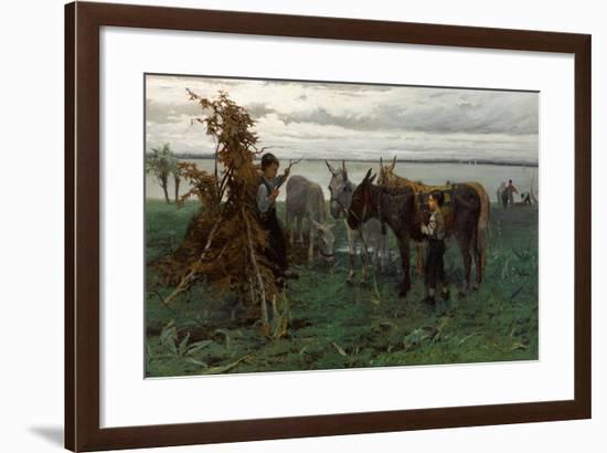 Boys Herding Donkeys, 1865-Willem Maris-Framed Giclee Print