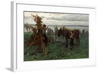 Boys Herding Donkeys, 1865-Willem Maris-Framed Giclee Print