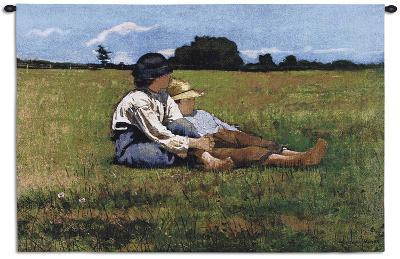 Boys in the Pasture-Winslow Homer-Wall Tapestry