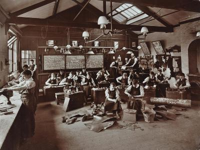 Boys Making Shoes at the Anerley Residential School for Elder Deaf Boys, Penge, 1908--Photographic Print