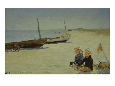 Boys on the Beach at Skagen-Peder Severin Kr?yer-Giclee Print