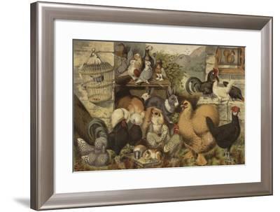 Boys' Pets--Framed Giclee Print