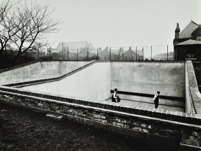 Boys Playing in a Fives Court, Strand School, London, 1914--Photographic Print