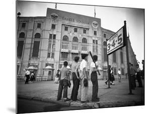 Boys Staring at Yankee Stadium
