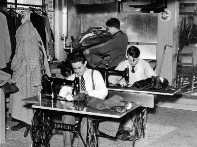 Boys Town Citizens Learned Tailoring as a Trade at Boys Town, 1944--Photo
