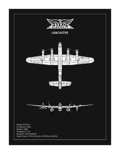 BP Avro Lancaster Black-Mark Rogan-Giclee Print