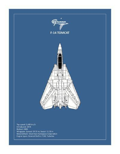 BP F-14-Tomcat-Mark Rogan-Giclee Print