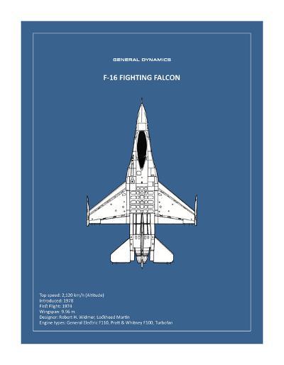 BP F-16 Fighting Falcon-Mark Rogan-Giclee Print