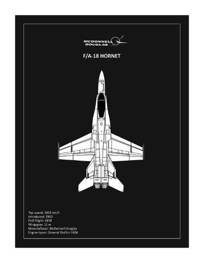 BP FA18 Hornet Black-Mark Rogan-Giclee Print