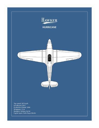 BP Hawker Hurricane-Mark Rogan-Giclee Print