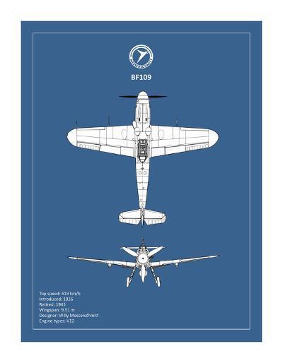 BP Messerschmitt ME 109-Mark Rogan-Giclee Print