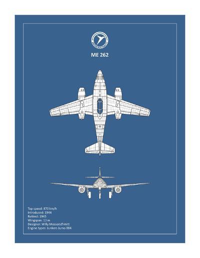 BP Messerschmitt ME262-Mark Rogan-Giclee Print