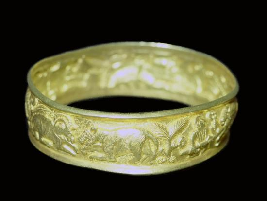 Bracelet from the Hoxne hoard, Roman Britain, buried in the 5th century. Artist: Unknown-Unknown-Giclee Print