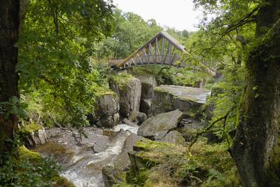 Bracklinn Falls, Callander, Loch Lomond and Trossachs National Park, Stirling, Scotland, UK-Gary Cook-Photographic Print