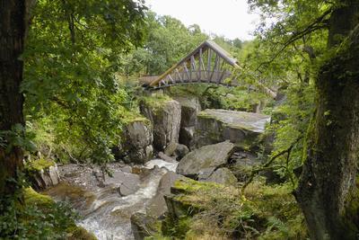 Bracklinn Falls, Callander, Loch Lomond and Trossachs National Park, Stirling, Scotland, UK-Gary Cook-Photographic Print