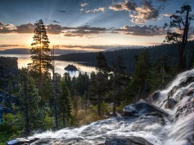 Sunrise Reflecting Off the Waters of Emerald Bay and Eagle Falls, South Lake Tahoe, Ca by Brad Beck