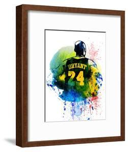 Kobe Bryant Watercolor by Brad Dillon