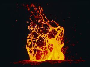 Lava Flow From Kilauea Volcano by Brad Lewis