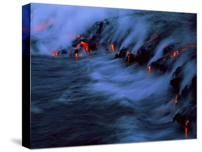 Molten Lava Flowing Into the Ocean