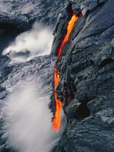 Pahoehoe Lava Flow From Kilauea Volcano, Hawaii by Brad Lewis