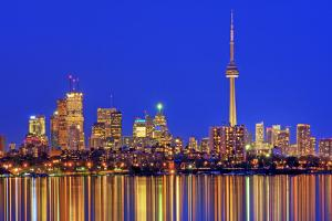 Toronto Skyline at Dusk by Brad Smith