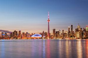 Toronto Skyline at Sunset from Toronto Islands by Brad Smith