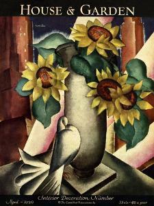 House & Garden Cover - April 1929 by Bradley Walker Tomlin