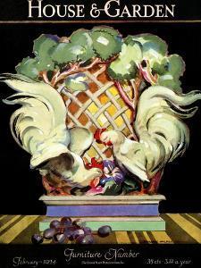 House & Garden Cover - February 1924 by Bradley Walker Tomlin