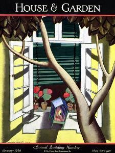 House & Garden Cover - January 1928 by Bradley Walker Tomlin