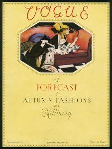 Vogue Cover - September 1923 by Bradley Walker Tomlin