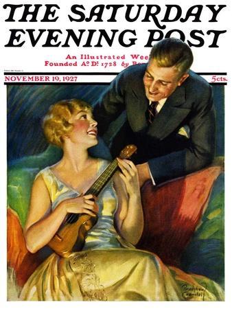 """""""Ukulele Baby,"""" Saturday Evening Post Cover, November 19, 1927"""