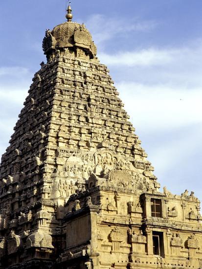Brahadeeshwara Temple, UNESCO World Heritage Site, Thanjavur, Tamil Nadu, India, Asia-Balan Madhavan-Photographic Print