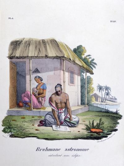 Brahmin Astronomer, Calculating the Eclipse, 1828- Marlet et Cie-Giclee Print