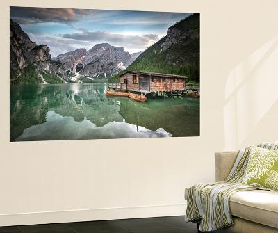 Braies Lake Boats-Marco Carmassi-Wall Mural
