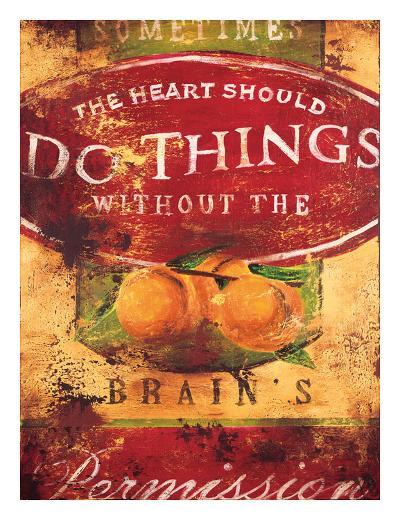 Brain's Permission-Rodney White-Giclee Print